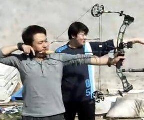 【自拍】复合弓试射