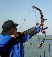 【自拍】青岛海上射箭实测复合弓射远