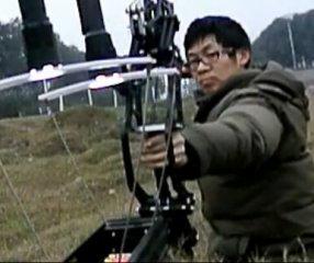 【自拍】冰龙复合弓撒放慢镜头